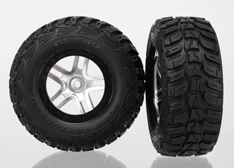 Tienda 2018 Traxxas 6874 6874 6874 SCT Kumho Tires Pre-Glued on Split Spoke, Satin Chrome, negro Beadlock-Style Wheels (pair)  ahorra 50% -75% de descuento