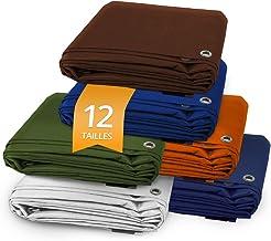 Casa Pura® Afdekzeil van polyethyleen, waterdicht, hoge dichtheid, 140 g/m², waterdicht en UV-bestendig, oranje - ca. 10 x...