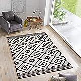 Wendeteppich Ethno In- & Outdoorteppich Webteppich Sisal-Optik Flachgewebe modern, Größe:140x200...