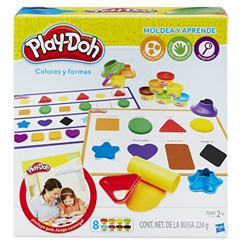 Play-Doh Aprende Colores y Formas, multicolor, 20 x 22 cm (Hasbro B3404105)