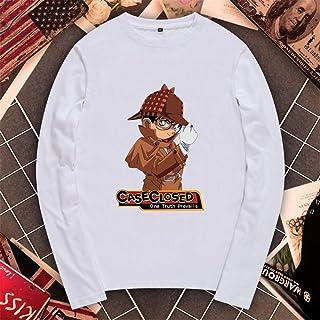 コナン 工藤 新一 名探偵コナン Detective Conan メンズ/レディース ロングスリーブ Tシャツ 長袖 トップス 半袖 無地 通気性 ファッション ゆったり
