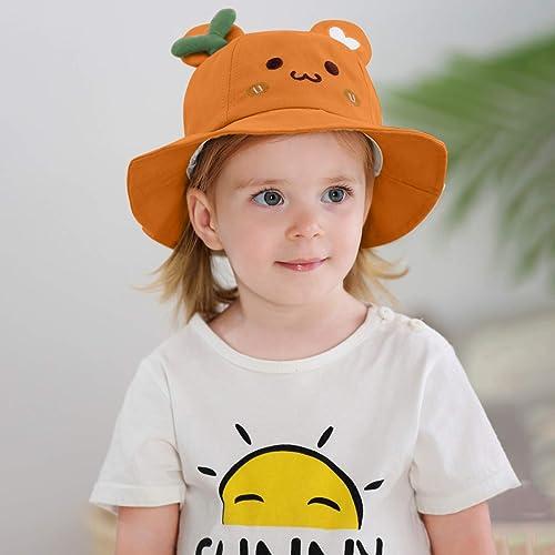 2021 Cute Bucket Hat for wholesale Kids Traveling Beach Sun sale Protection Hat Boys Girls Bucket Cap Outdoor Beach Hat Wide Rim Summer Fisherman Cap sale