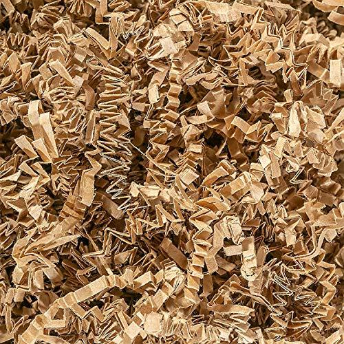 Papel de corte arrugado, 100 g, relleno de caja de regalo, material de relleno (marrón claro)