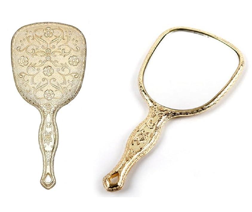捨てるジェームズダイソン再現する送料無料 お気に入りアンティーク 鏡 キラキラお姫様ミラー メッキハンドミラー トゥインクル 装飾鏡 ゴールド