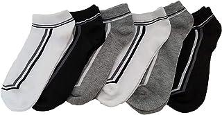6 pares Calcetines tobilleros de entrenamiento para hombre, Deportivo Sciclismo Cortos Respirable Algodón Antideslizantes Calcetines Tobilleros