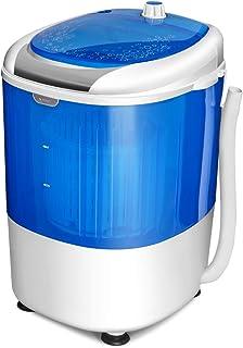 GOPLUS Mini Machine à Laver avec Essorage, Lave-linge Semi-automatique Compact et Portable, 10 Minutes Lavage Rapide, Capa...