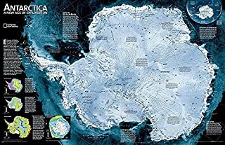 Antarctica Satellite, tubed : Wall Maps Continents: NG.PC620091 (Reference - Continents) by National Geographic Maps (2012-08-02)