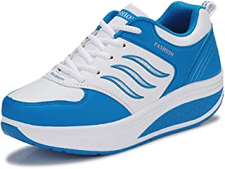 Unparalleled beauty Women's Lace Up Platform Shape Up Sports Sneakers Fitness Sports Shoes