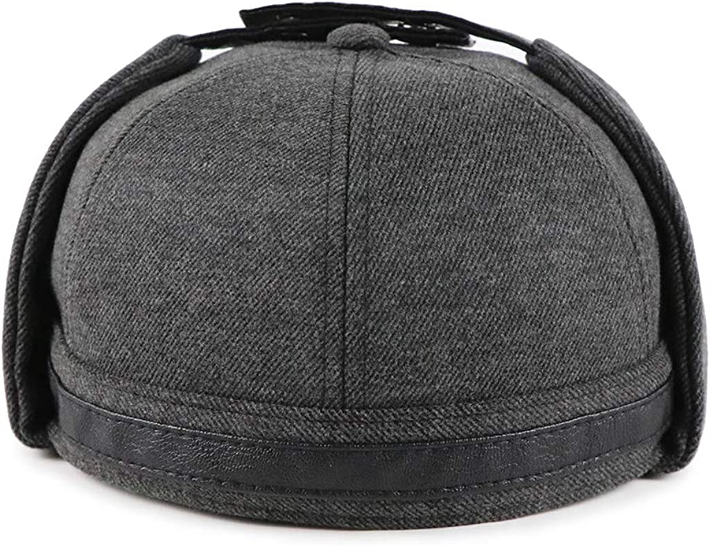 Blend Docker Beanie Hat Direct stock discount Adjustable Buckle Leather Style New product type Vintage