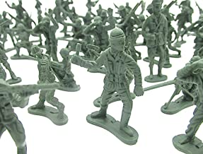 Dazzling Toys Miniature Toy Soldier Figurines 144 Count - Novelty Mini Combat Army Foot Soldiers | Mercenary Trooper Infantry Military Men at Arms Set of 144 Pcs Multiple Styles