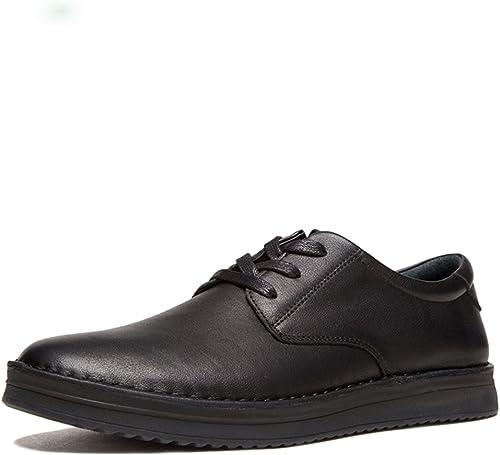 FLYSXP Chaussures d'hiver décontractées en Cuir Oxford pour Homme, 6.5 D(M) US