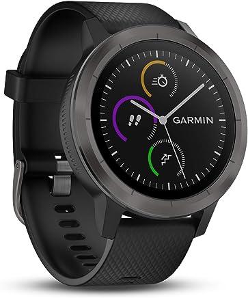 Garmin vívoactive 3 GPS-Fitness-Smartwatch - vorinstallierte Sport-Apps, kontaktloses Bezahlen mit Garmin Pay, Gunmetal