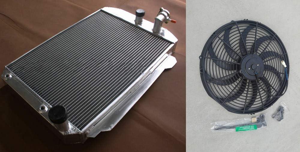 Aluminum Albuquerque Mall radiator Houston Mall Fan for Chevy Hot Street V8 W 350 Tr 5.7 Rod