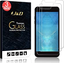 J&D Compatible for 3-Pack LG Aristo 2/Tribute Dynasty/Tribute Empire/Aristo 2 Plus/Phoenix 4/Zone 4/K8 2018/Fortune 2/Rebel 4 Glass Screen Protector, [Tempered Glass] HD Clear Glass Screen Protector