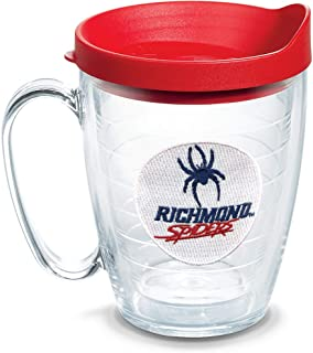 Tervis 1135969 Richmond Spiders Logo Tumbler with Emblem and Red Lid, Tritan, Clear