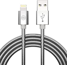 [Apple MFi Certified] USB Lightning Cable, SYNLOGIC iPhone Charging Cable 3.3Ft. Metal Braided Lightning Cable Cords for iPhone XS/XR/8/7/7Plus/6/6Plus/6S/5/, iPad Pro/Air/Mini (Silver)