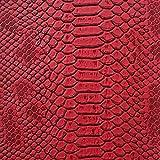 1 m rote Eidechsen-Prägung Kunstleder/Vinyl mit