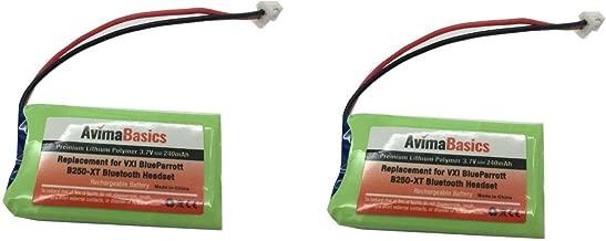 AvimaBasics Premium Quality Replacement Rechargeable Battery for VXI Blue Parrott B250-XT B250-XT+ Wireless Bluetooth Headset Roadwarrior Blue Parrott 052030 502030 Blue Parrot PL602030 (AVIMA 2 Pack)