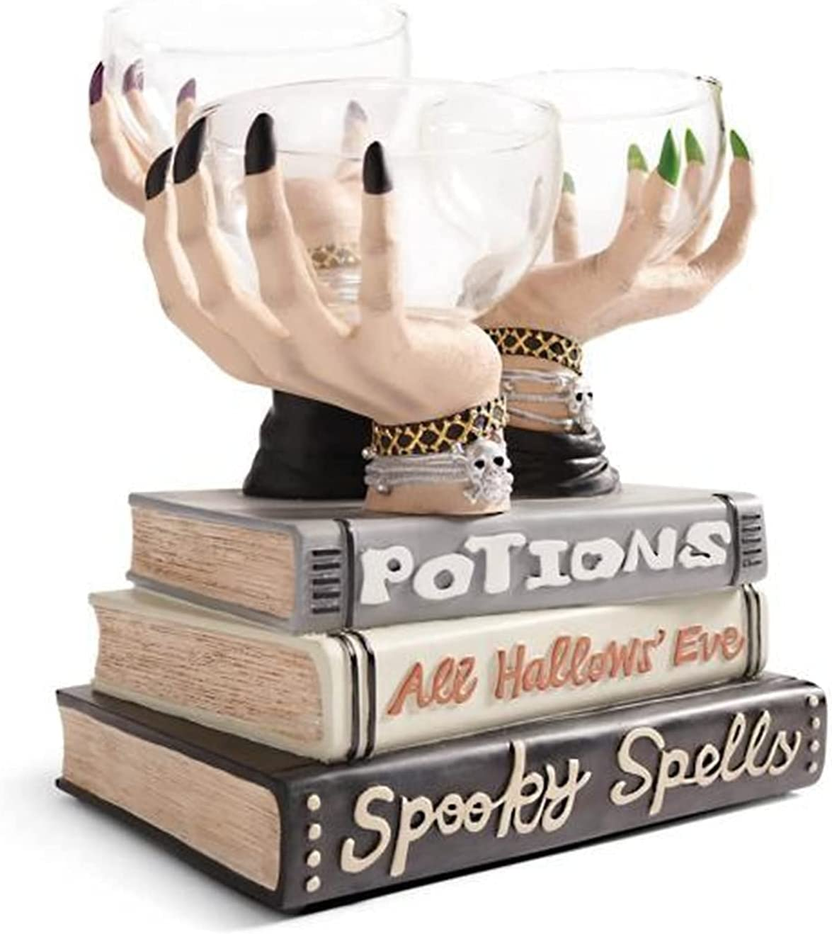 Halloween Witch Hands Snack Bowl Stand,Snack Basket,Candy Holder ...