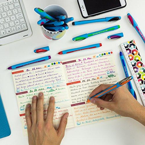 Schneider Slider Memo XB Ballpoint Pen, Asstd. Colors, Pack of 6 (150296) Photo #11
