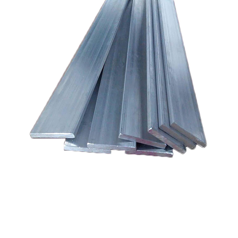 Barra plana de aluminio de 5 piezas, placa de uso general 6061, 5 mm x 20 mm x 0,5 m