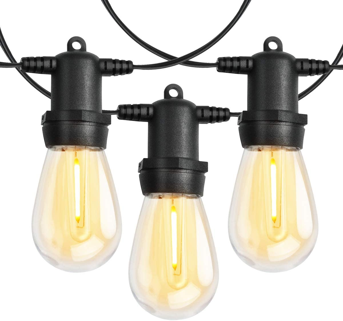 Outdoor Patio String service Lights with Feet Bistro shop 100