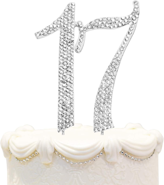 Hatcher lee Bling Crystal Rhinestone 17 B Birthday - Cake Topper Cheap Overseas parallel import regular item mail order sales