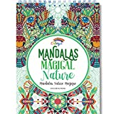 Libros Para Colorear Adultos por Colorya - Mandalas Magical Nature - Libro Colorear...