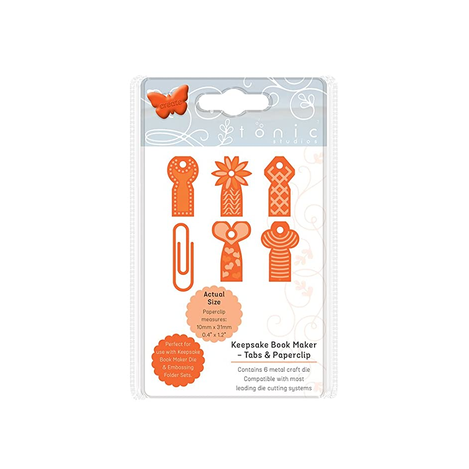Tonic Studios Keepsake Book Maker Tabs and Paperclips Craft Die Set, Stainless Steel, Grey, Small