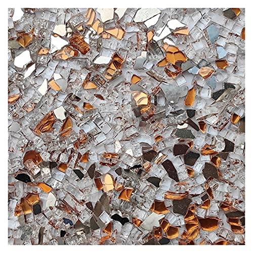 LinXIPU Fragmentos de Azulejos de Colores 100 g de Color Mezclado Espejo de Cristal Espejo azulejo Mosaico Forma Irregular Mosaico Piedra Bricolaje Material Artesanal de Arte Artesanía de Mosaico