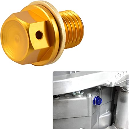 H2racing Motor Gold M12 X P1 5 Magnetisch Ölablassschraube Schrauben Für Nc700s X Abs 750s X Rvt1000r Rc51 Vtr1000sp1 2 Scooter Chf50 Nps50 Vfr400r 750f Rvf750 R Vfr800a Interceptor Abs Auto