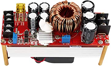 SHINESTAR 1500w 30A DC-DC Boost Converter with Cooling Fan, DC 10V-60V to DC 12V-90V CC CV Adjustable Step-up Power Module