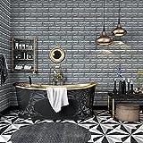 KINLO 5PCS DIY Pegatina de Pared Ladrillo 70 * 77 * 1CM Más Espeso Papel Pintado Autoadhesivo Panel Pared Impermeable PE Espuma Decoración de Pared(Color Blanco)