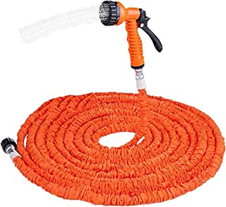 7 Function Spray Nozzle Watering Equipment Garden Hose Pipe for Plant Watering Car And Motorcycle Cleaning Lawn Garden,150ft