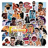 50PCS Bad Bunny Stickers, DreamCatching Waterproof Vinyl Stickers for Laptop, Water Bottles, Computer, Phone, Car Stickers and Decals, as Gifts for Kids Girls Teens