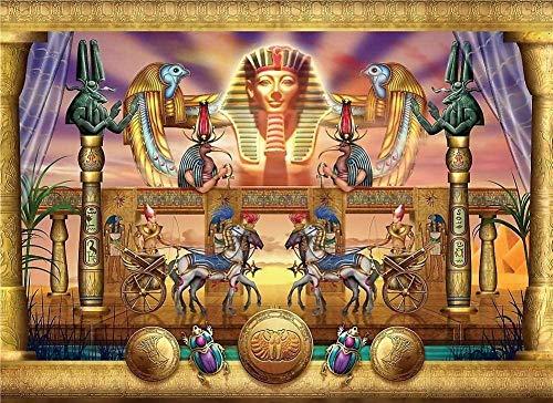 YYTTLL 1000 Stück Puzzles ?gyptischer Pharao Wagen Holzpuzzle, Puzzle Für Erwachsene, Puzzle Für Kinder