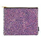 Style.Lab by Fashion Angels Chunky Glitter Pouch, Cosmetic/Makeup Bag, Pecil Pouch, Purple/Blue, 77157