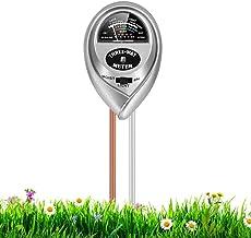 RileyKyi Soil PH Meter, 3-in-1 Soil Moisture/Light/pH Tester Gardening Tool Kits for..