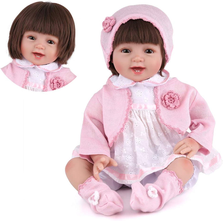 Kaydora 22 inch Realistic Reborn Baby Dolls Handmade Reborn Girl Silicone Newborn Smiling Girl Doll with Princess Dress (Hair Wigs)