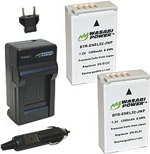 Wasabi Power Battery (2-Pack) and Charger for Nikon EN-EL22, Nikon MH-29, Nikon 1 J4, Nikon 1 S2