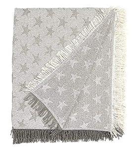 Martina home foulard multiusos- Plaid modelo Estrella - tela 230x260,cm color crudo gris