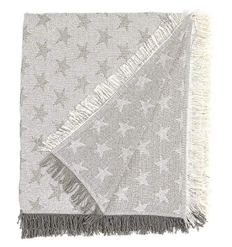 Martina home foulard multiusos- Plaid modelo Estrella - tela 230x260,cm color crudo gris