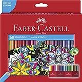 Faber-Castell 111260 - Estuche-soporte de cartn con 60 lpices de colores, multicolor