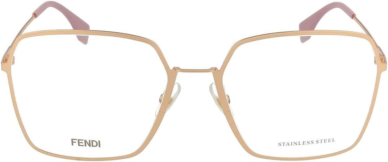 Fendi FF0333 pink gold Clear Lens Sunglasses