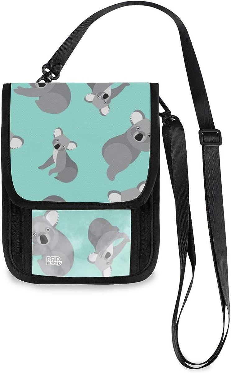 RFID Blocking Travel Neck Wallet - Holder Max 64% OFF Passport Now free shipping Ne Cute Koala