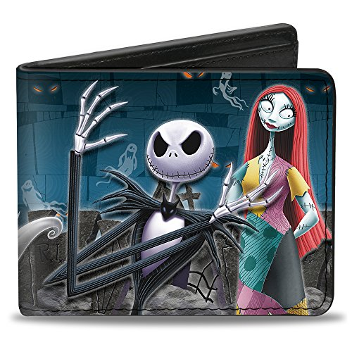 Buckle-Down Men's Nightmare Before Christmas 4-Character Group/Cemetery Scene, Multicolor, Standard Size