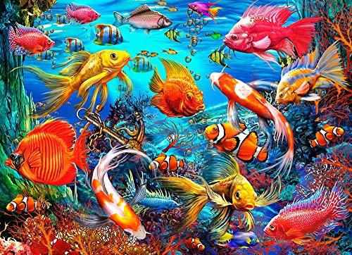 Puzzle 1000 pezzi di pesci tropicali di Vermont Christmas Company