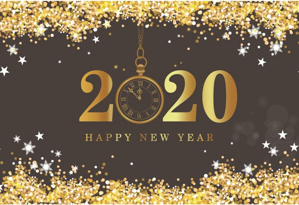 Leowefowa 5x3ft New Year 2020 2021 spring and summer new Glitte Photography Shipping Free Backdrop Golden