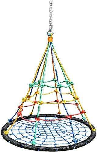 Indoor Outdoor Schaukeln Kinderschaukeln Farbe Vogelnest Schaukeln Kindergarten Früherziehung Zentrum Schaukeln Geeignet für 3 Jahre (Farbe   ColGoldt, Größe   39.37  39.37inchs)