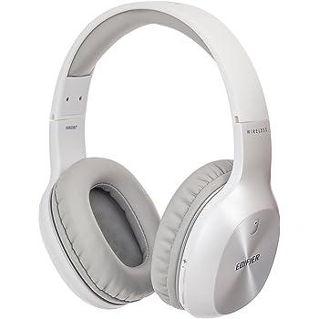 Edifier W800BT Bluetooth Headphones - Over-The-Ear Wireless Headphone, 75 Hours Long Playback, Lightweight - White
